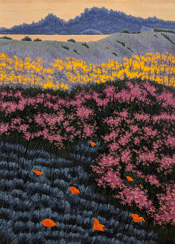 Pink Mustard - Limited Woodcut Print by artist Gordon Mortensen