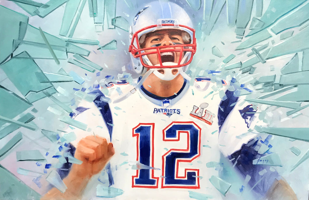Victory - Tom Brady - Original Oil on Canvas by Hagop Keledjian