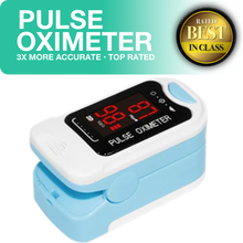 Pulse Oximeter Blood Oxygen Saturation SPO2 Heart Rate Monitor