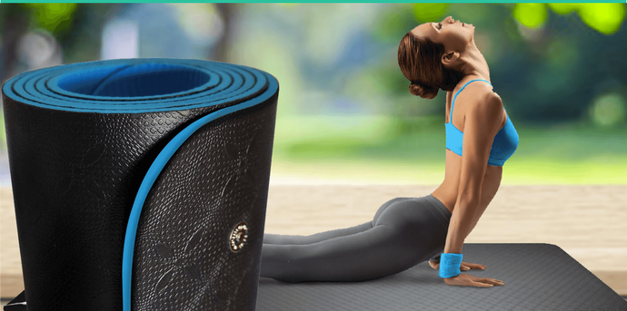 Earthing Yoga Mat - Thick Yoga Exercise Mat (24 inches x 72 inches)