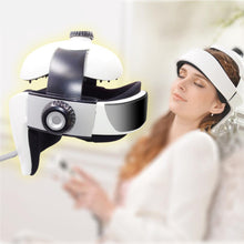 Electric Head Massager Brain Massage Helmet With Music for Relaxation Sleeping Aid