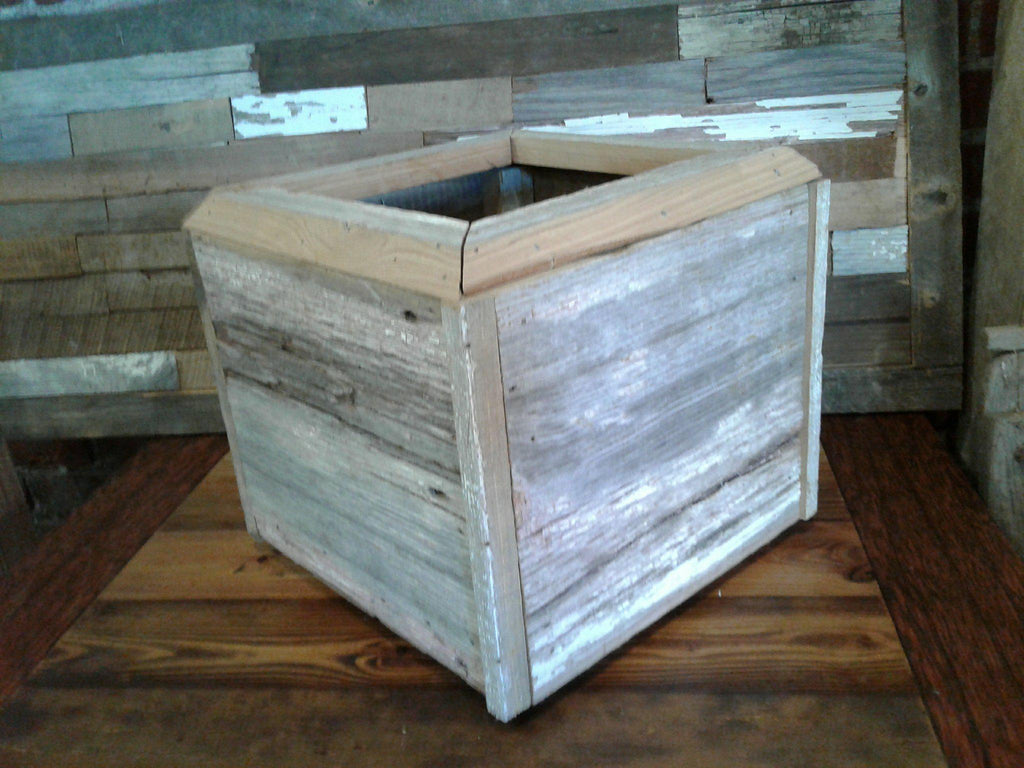 handmade one of a barnwood planter box