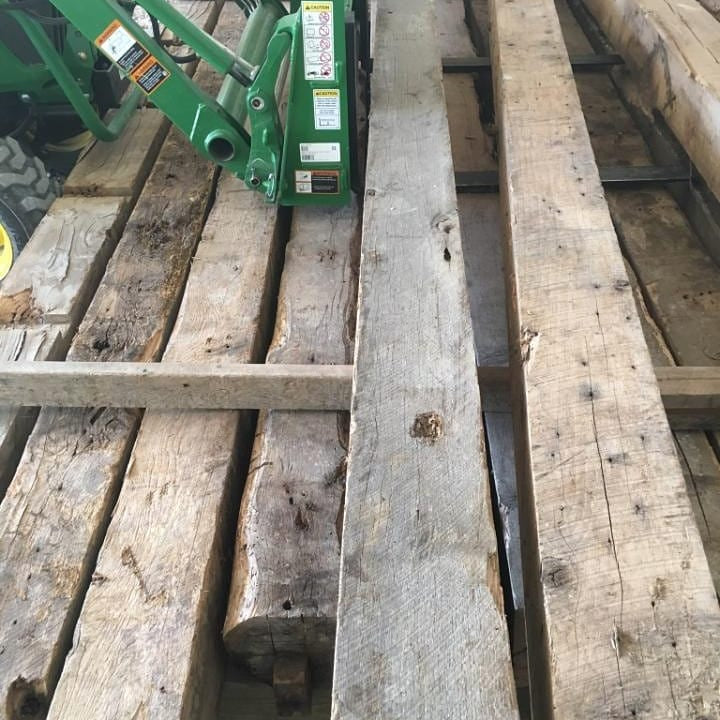 Antique rough sawn oak beams Columbia Missouri barn 50 dollars a linear foot