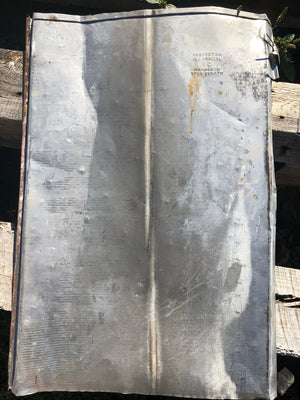 Early 1900's roofing tin