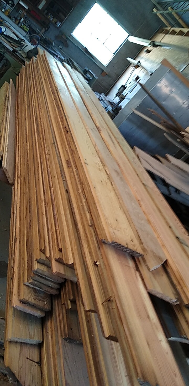 "Shiplap 5"" x 3/4"" x 7' to 19' lengths douglas fir barnwood"