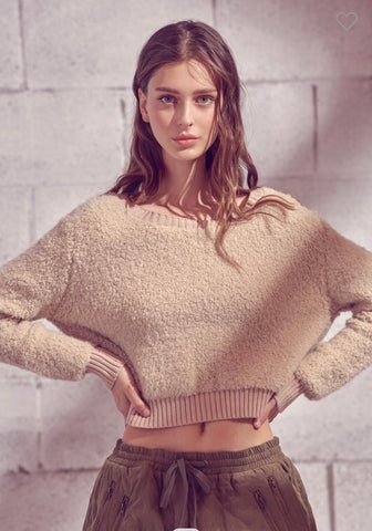 Teddy Cropped Sweater