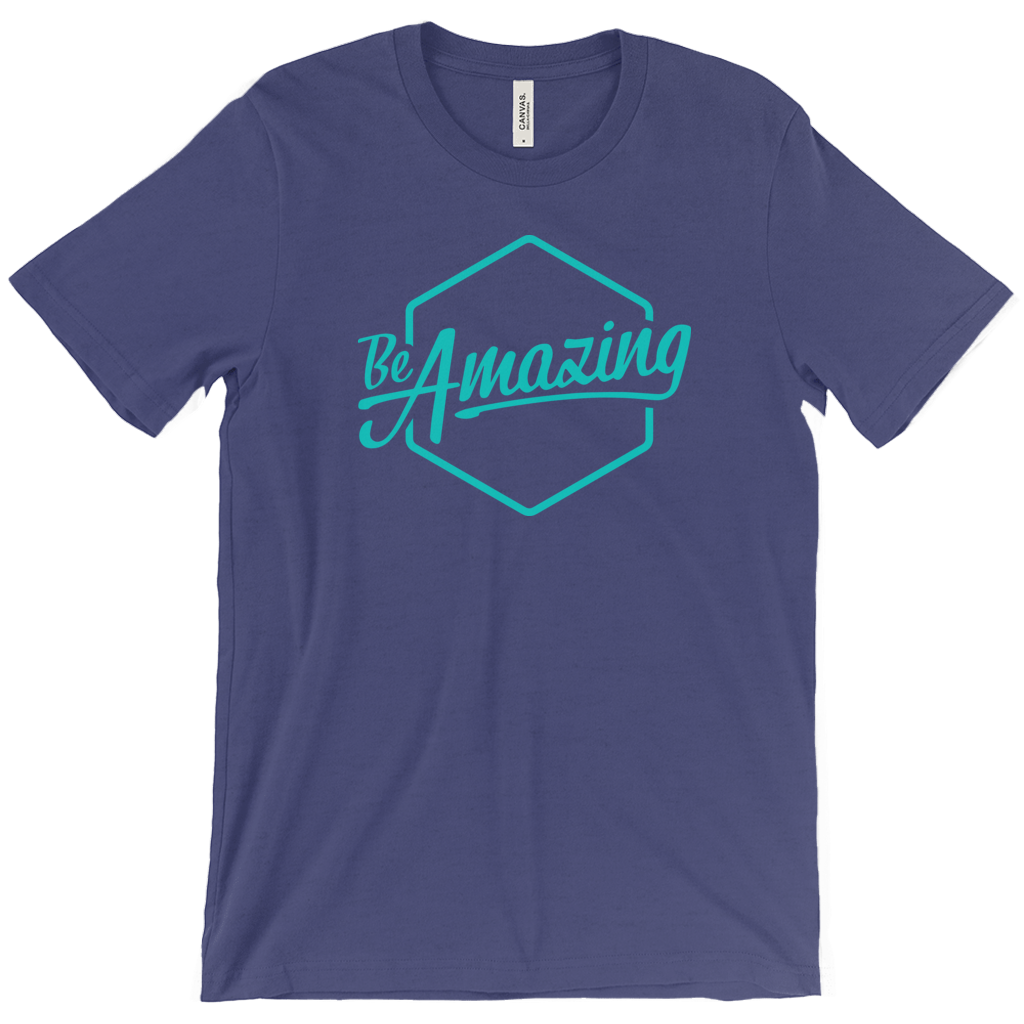 Be Amazing - Blue Tee Shirt