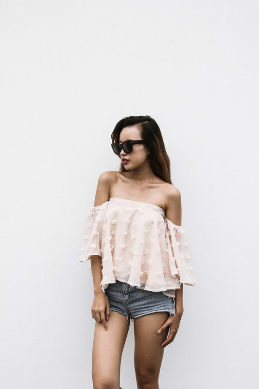 CANDICE Ruffled Off-Shoulder Top