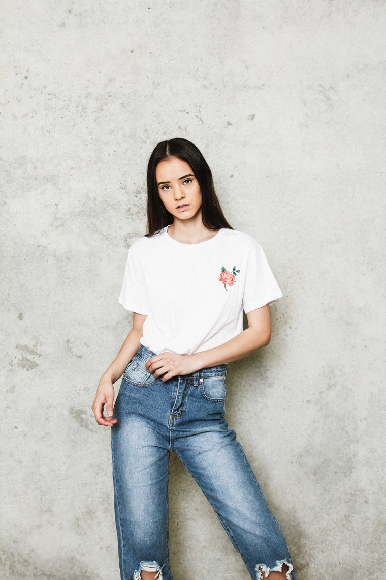 ROSIE Embroidery T-Shirt