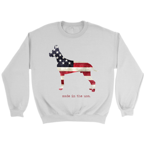 Unisex Patriotic Great Dane Sweatshirt