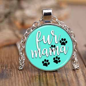 Turquoise Fur Mama Necklace