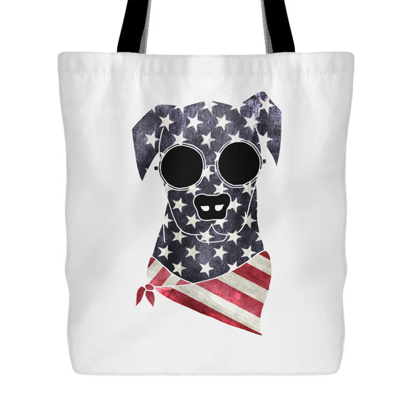 American Hippie Dog Large Tote Bag