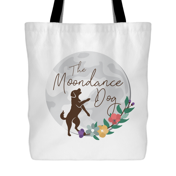 The Moondance Dog Large Tote Bag