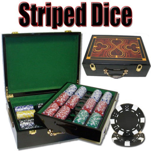 500 Piece Striped Dice 11.5g - Hi Gloss