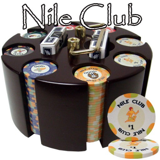 200 Piece Standard Nile Club Chip Set in Wooden Carousel