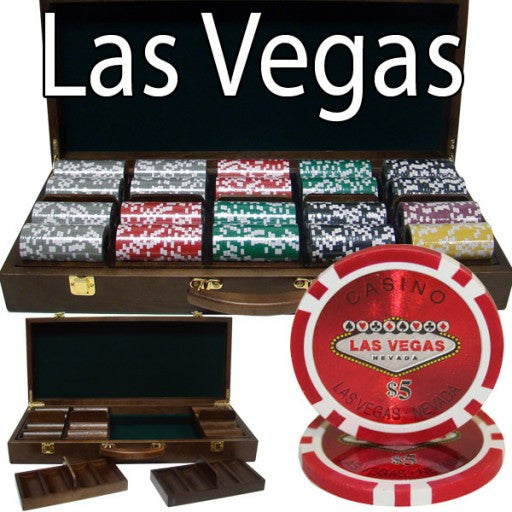 500 Piece - Las Vegas 14 G - Walnut Case