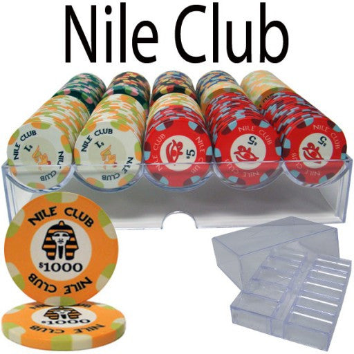 200 Piece Standard Nile Club Chip Set in Acrylic Tray