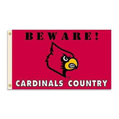 "Louisville ""Beware! Cardinals Country"" Flag"