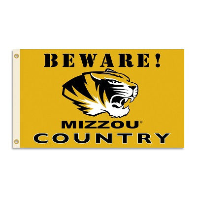 "Missouri ""Beware! Mizzou Country"" Flag"