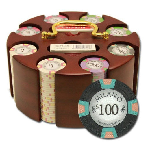 200 Piece Milano Chip Set in Carousel Case