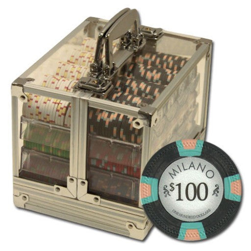 600 Piece Milano Chip Set in Acrylic Case