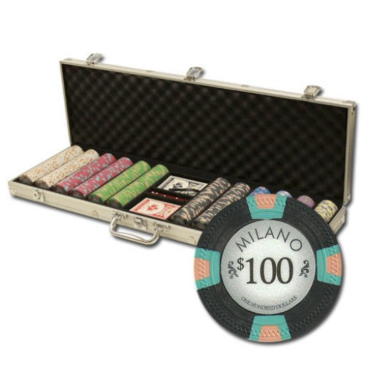 600 Piece Milano Chip Set in Aluminum Case