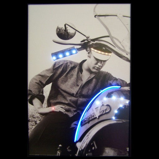 Elvis On Motorcycle Neon/Led Picture