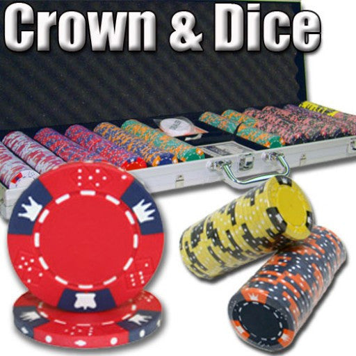 600 Piece  - Crown & Dice 14 G - Aluminum