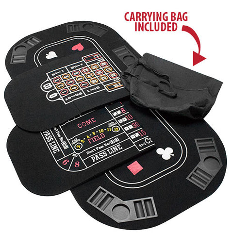 5 in 1 Table Top Includes: Poker, Blackjack, Roulette, Craps