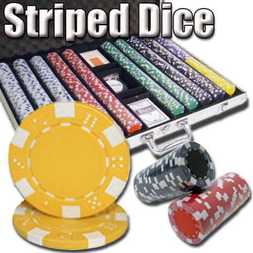 1,000 Piece - Striped Dice 11.5 G - Aluminum