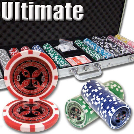 600 Piece - Ultimate 14 G - Aluminum - Poker Chip Set