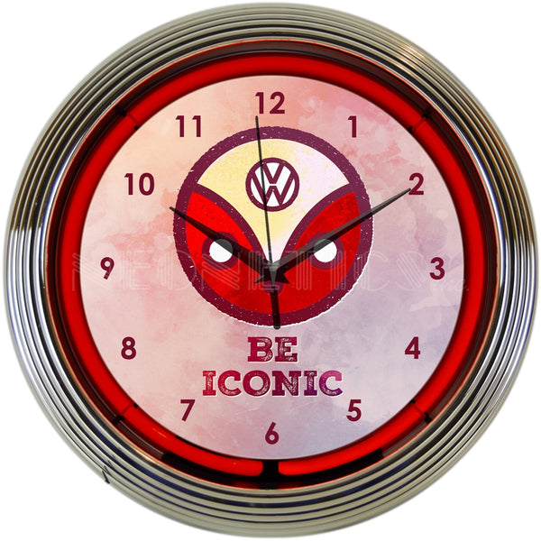 Volkswagen BE Iconic Neon Clock