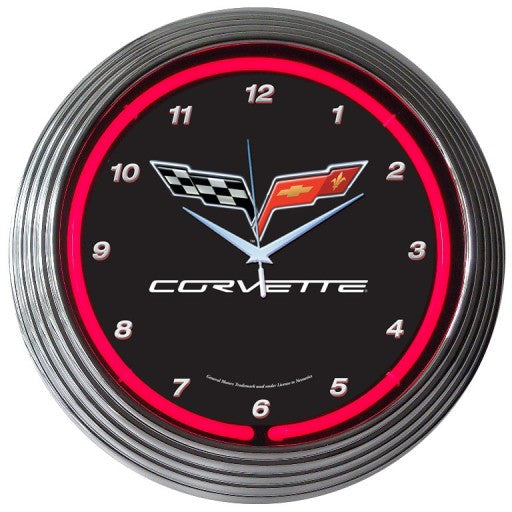 GM Corvette C6 Neon Clock