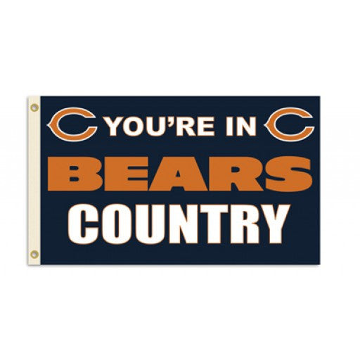 Chicago Bears Country 3 x 5 Flag
