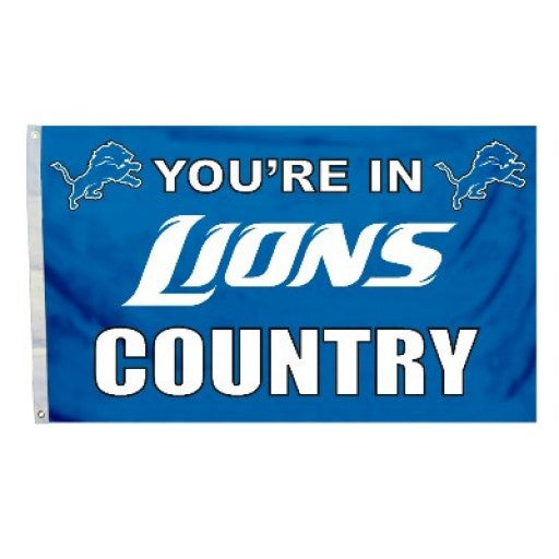 Detroit Lions Country 3 x 5 Flag