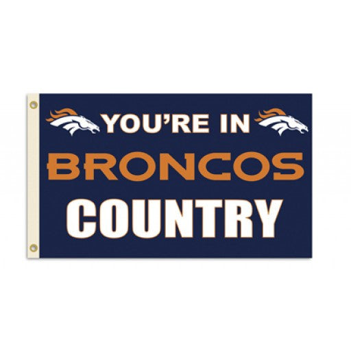 Denver Broncos Country 3 x 5 Flag