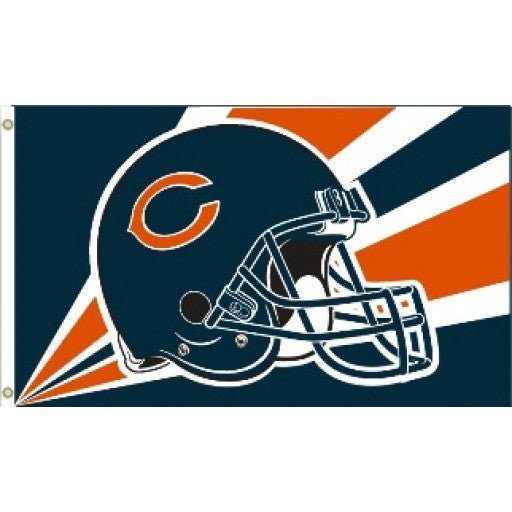 Chicago Bears Helmet 3 x 5 Flag