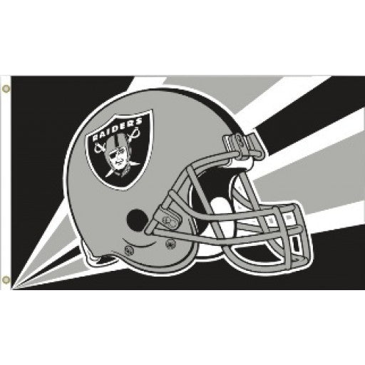 Oakland Raiders Helmet 3 x 5 Flag