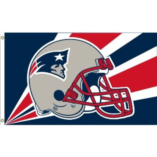 New England Patriots Helmet 3 x 5 Flag