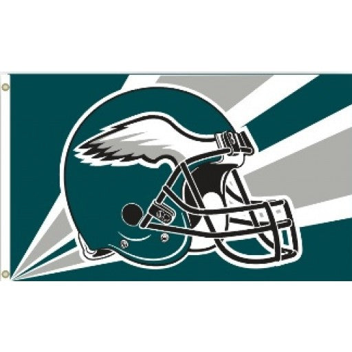 Philadelphia Eagles Helmet 3 x 5 Flag