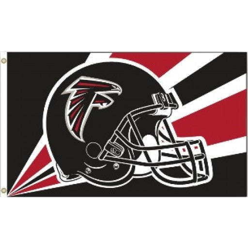 Atlanta Falcons Helmet 3 x 5 Flag