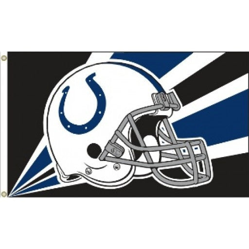 Indianapolis Colts Helmet 3 x 5 Flag
