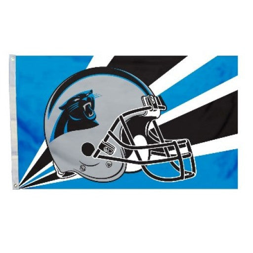 Carolina Panthers Helmet 3 x 5 Flag