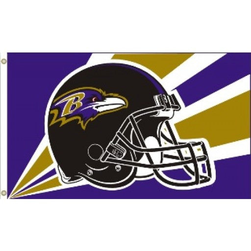 Baltimore Ravens Helmet 3 x 5 Flag