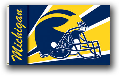 Michigan Helmet Flag