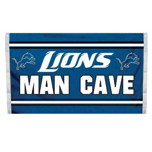 Detroit Lions Man Cave Flag
