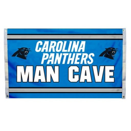 Carolina Panthers Man Cave Flag