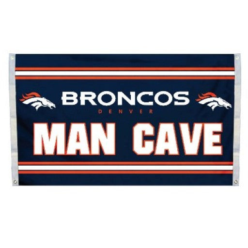 Denver Broncos Man Cave Flag