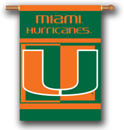 Miami Hurricanes House Banner