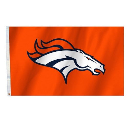 Denver Broncos Orange 3 x 5 Flag